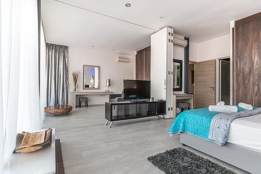 Villa, Interior, Hotel, Bedroom, Vacation, Luxury