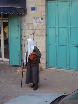 Middle East, Holy Land, Palestine, Old Man, Street