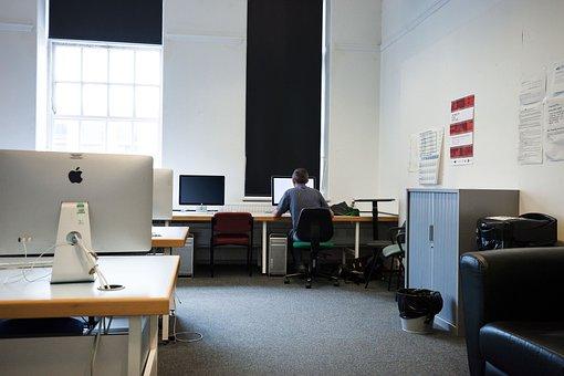 Computer Room, Computer, Screens, Monitor, Network