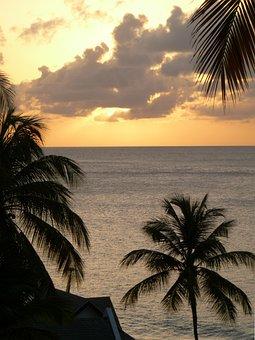 Sunset, Clouds, Sky, Golden Sunset, Sundown, Sea, Ocean