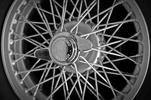 Rim, Spoke Wheels, Wing Nut, Oldtimer