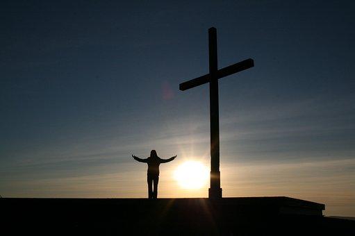 Person, Clinic, Cross, Religion, Sunset, Human, God