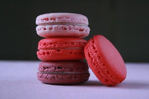 Pink Macaroons, French, Macaron, Sweet, Food