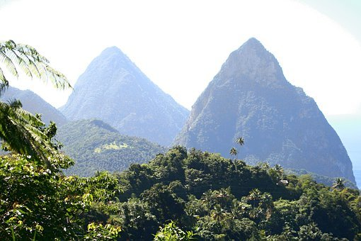 Pitons, Twin Pitons, Caribbean Island, St Lucia