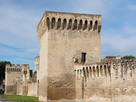 Avignon, City Wall, Defensive Tower, Tower, Protection