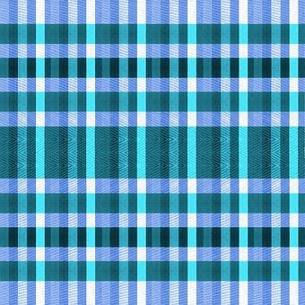 Fabric, Cloth, Material, Gingham, Blue, Aqua, Shades