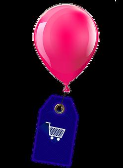 Balloon, Shield, Shopping Cart, Shopping, Purchasing