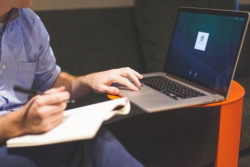 Startup, Business, Businessman, Notebook, Laptop