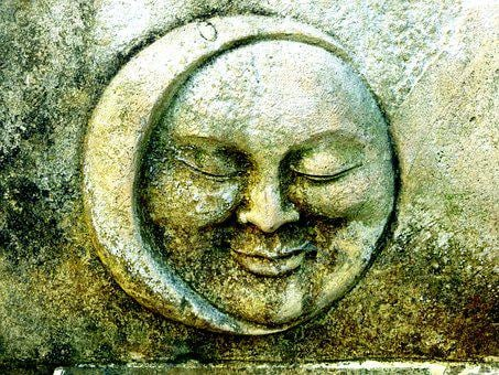 Moon, Sun And Moon, Stone, Icon Images, Face, Mystical