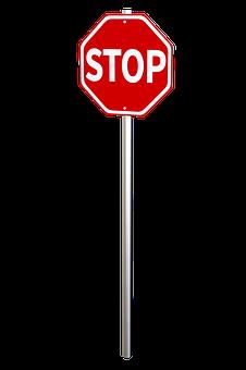 Stop Sign, Halt, Traffic Management, Stop, Sign, Red