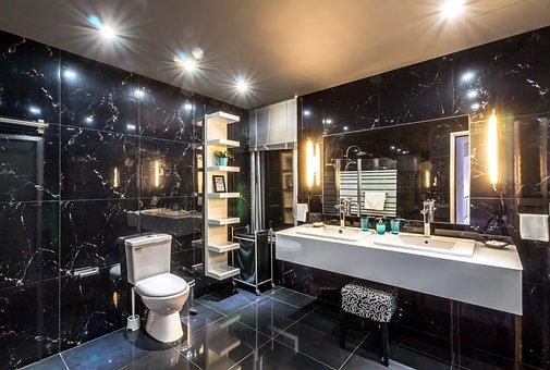Hotel, Bathroom, Interior, Villa, Summer, Luxury