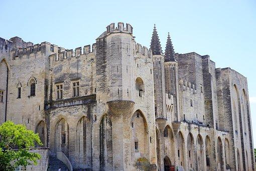 Palais Des Papes, Corner Tower, Tower, Building