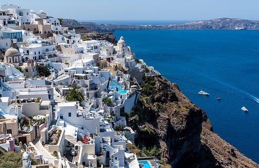 Santorini, Oia, Greece, Travel, Architecture, White