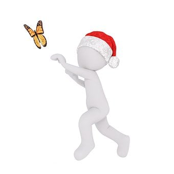 White Male, White, Figure, Isolated, Christmas
