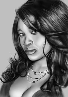 Drawing, Cartoon, Sketch, Woman, Cute, Pencil, Drawn