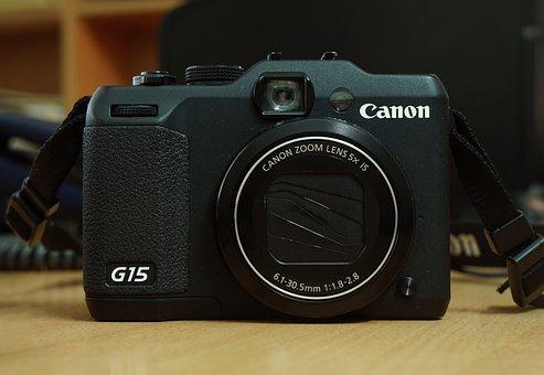Camera, Canon, Black