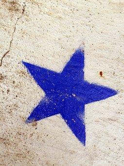 Blue, Star, Pattern, Design, Decorative, Texture, Shape