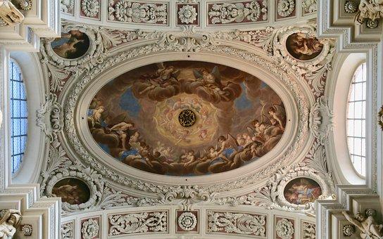 Ceiling Painting, Fresco, Passau, Dom, Religion, Church