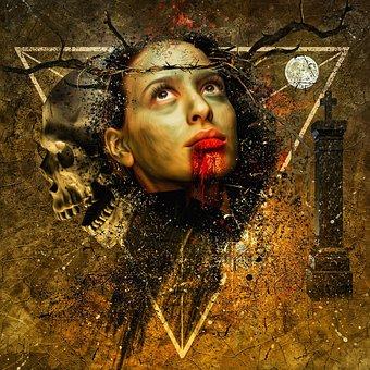 Vampire, Female, Woman, Young, Beauty, Horror, Dark