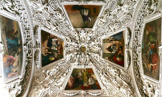 Ceiling Painting, Frescoes, Stucco, Salzburg, Dom