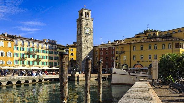 Riva Del Garda, Garda, Old Town, Italy, Port, Lakeside