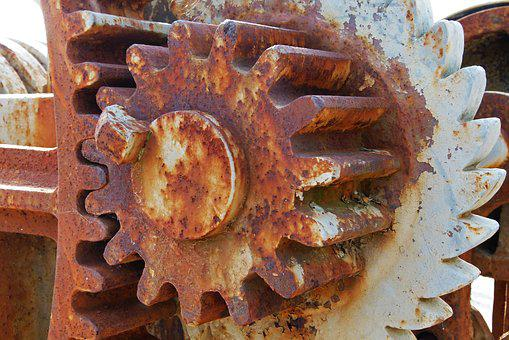 Mechanism, Gear, Machine, Sprockets, Synergy, Rusty