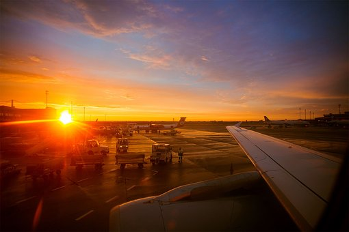 Airport, Aircraft, Sunset, Holiday Flyer, Departure