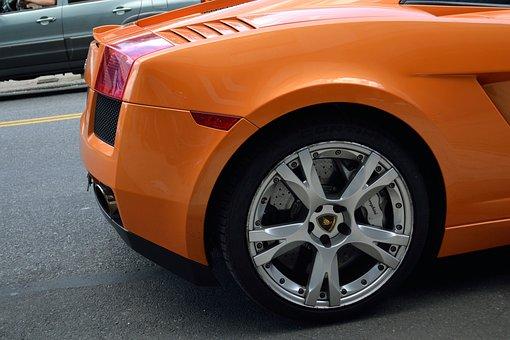 Lamborghini, Rear Week, Tail Light, Break Light