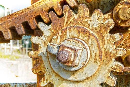 Mechanism, Gear, Machine, Sprockets, Synergy, Rusty