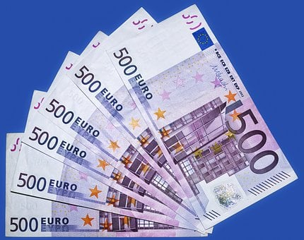 Euro, Bank Note, 500 Euro, Currency, Paper Money, Money