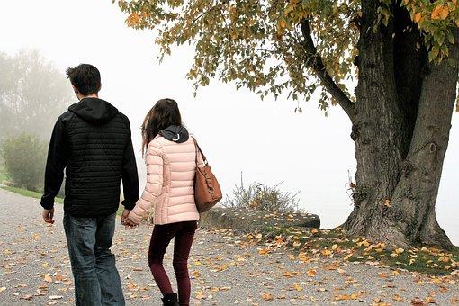Para, Foliage, Autumn, Morning, Haze, Beach, Lake