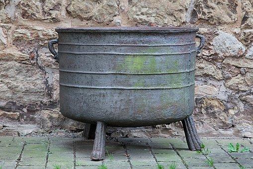 Boiler, Cast, Old, Metal, Nostalgia, Middle Ages