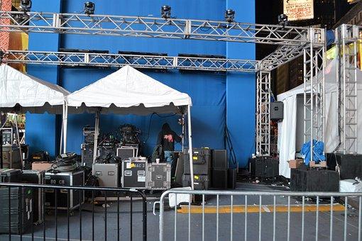 Backstage, Manhattan, Performance, Stage, Equipment