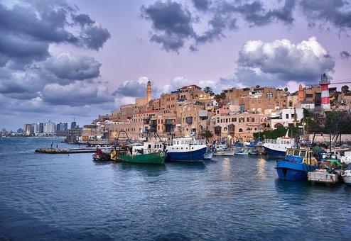 Jaffa, Port, Israel, City, Sea, Travel, East, Aviv, Tel