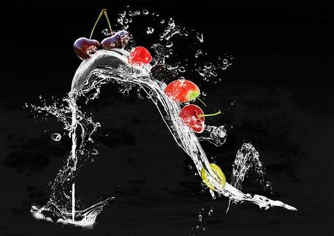 Shoe, Fruits, Water Splashes, Water, Drop Of Water