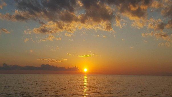 Sunset, Montenegro, Sky, Clouds, Adriatic, Evening