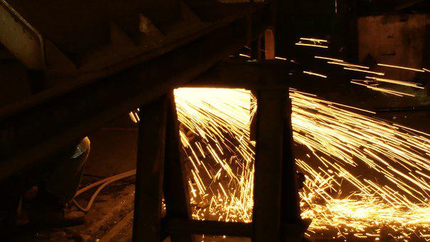 Welding, Spark, Splash, Flame, Building, Work