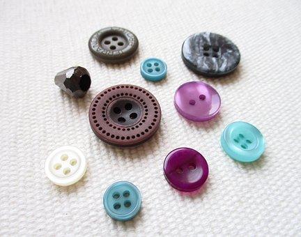 Buttons, Needlework, Design, Hobby, Textiles, Stitching