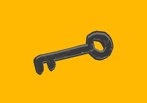 Key, Silhouette, Icon, Rusty Key, Design, Unique
