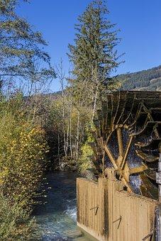 Water Mill, Autumn Colours, Mühlbach, Mill