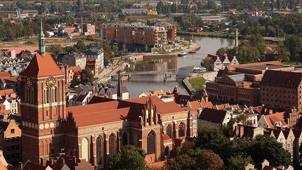Gdańsk, Poland, Aerial View