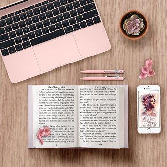 Book, Young Adult, Macbook, Desk, Literature, Heroine