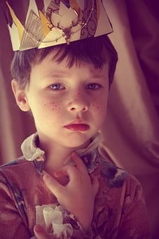 Boy, Prince, Crown, Freckles, King, Story, Magic, Elf