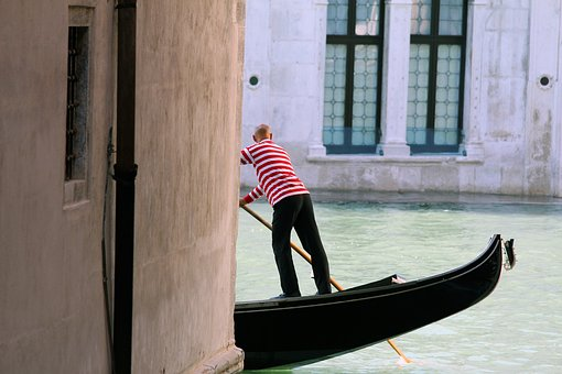 Venice, Italy, Gondola, Channel, Water, Journey