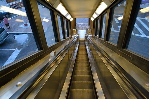 Escalator, Elevated Subway Platform, 125th Street