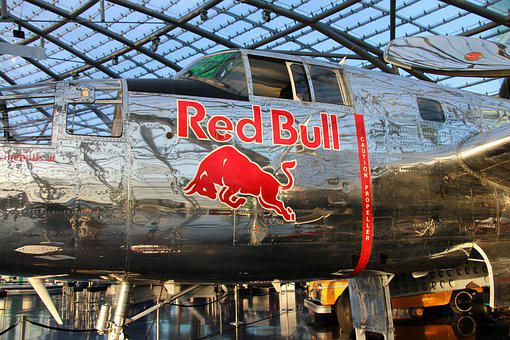 Aircraft, Red Bull, Hangar 7, Fly, Bomber, Exhibition