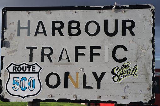 Nc500, Harbour Sign, Road Sign, Directions