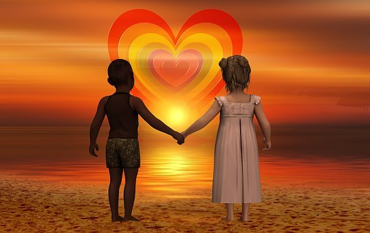 Children, Heart, Forward, Skin Color, Harmony, Line