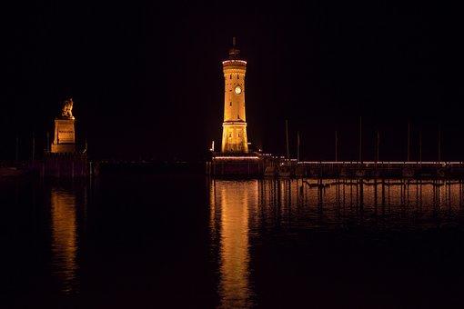 Lindau, Lake Constance, Lighthouse, Harbour Entrance