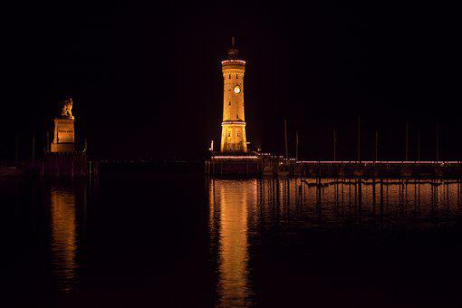 Lindau, Lake Constance, Lighthouse, Harbour Entrance